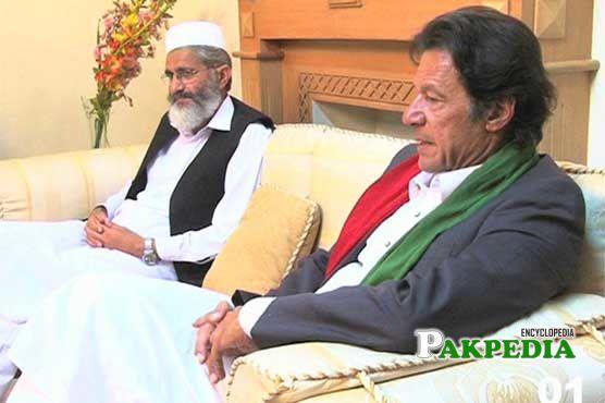 Siraj ul Haq with Imran Khan