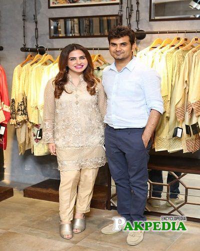 Faiza Saqlain with her husband Haider Saqlain