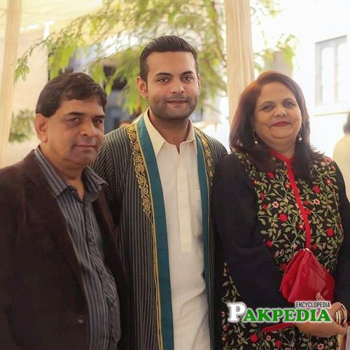 Hassam with his family