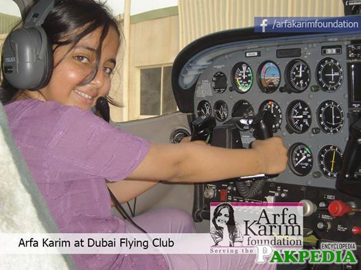 Arfa Karim At Dubai Flying Club
