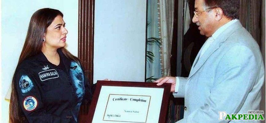 Namira Salim with Pervez Musharraf