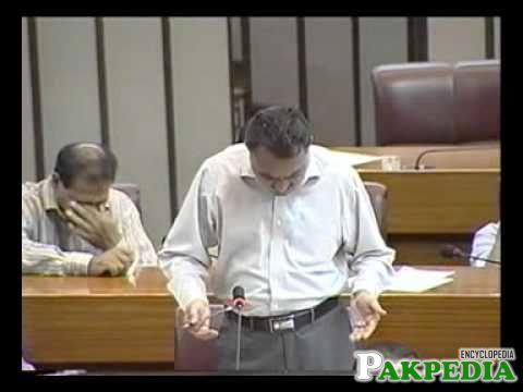 Khuwaja Sohail Mansoor in National Assembly