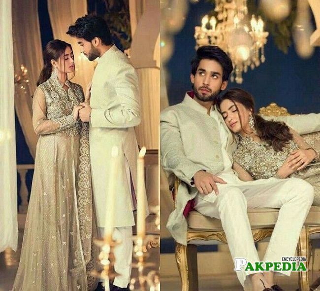 Bilal Abbas with Sajal Ali for a shoot
