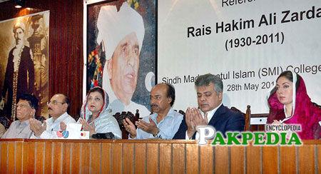 Politicians paying tribute to Hakim Ali zardari