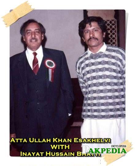 With Attaullah Khan Esakhelvi