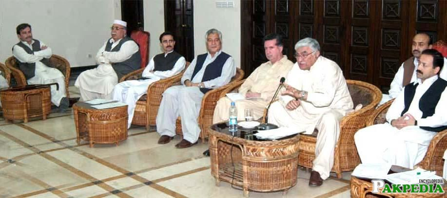 Asfandyar Wali Khan with Politicians