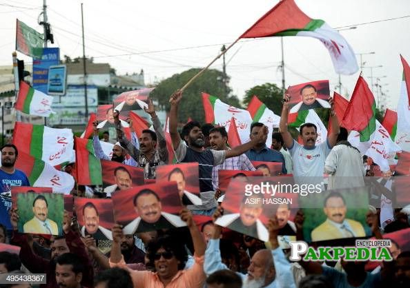 Protest of MQM people