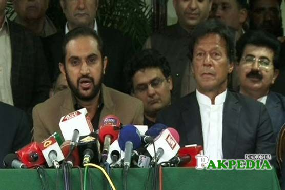 Sitting Behind Imran Khan
