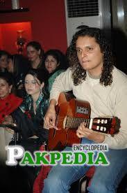 Mekaal Hasan palying guitar somewhere