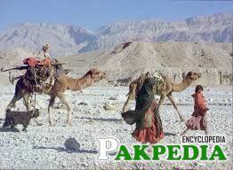People in desert area in balochistan