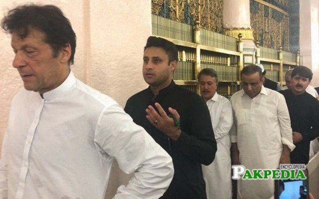 while performing Umrah with Imran khan