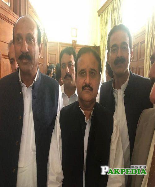 Raja Sagheer Ahmed with Usman Buzdar in National Assembly