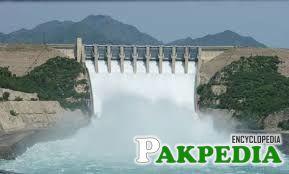 The Barrage located 7 km downstream of Tarbela Dam