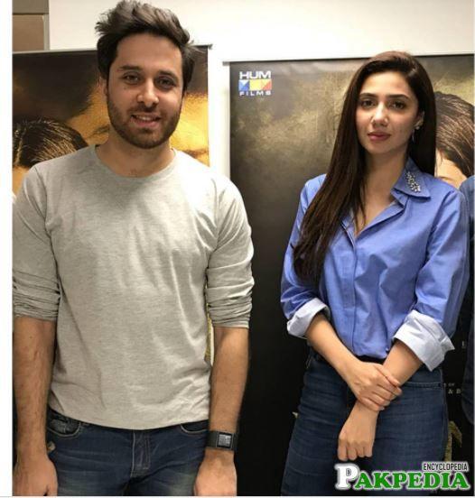 With Mahira Khan