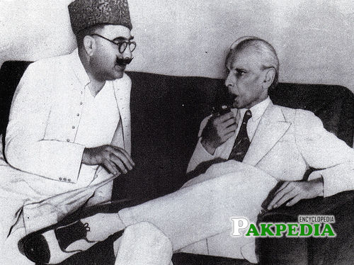 With Quaid-e-Azam