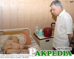 Riaz ur Rehman Saghar in a hospital