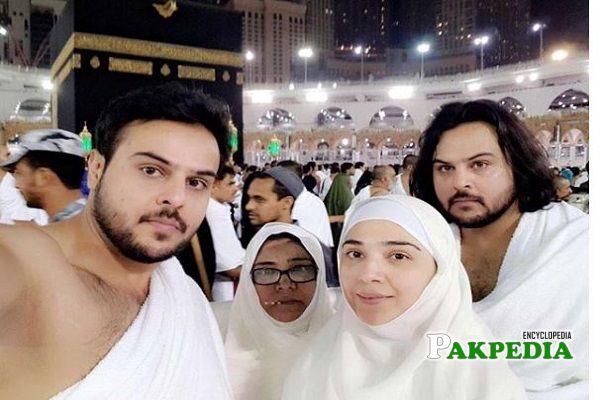 Natasha Ali with her family