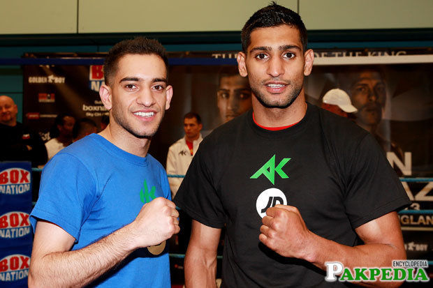 Amir Khan With His Brother