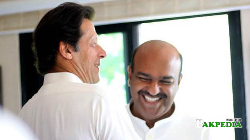 Nadeem Afzal met Imran khan after leaving PPP