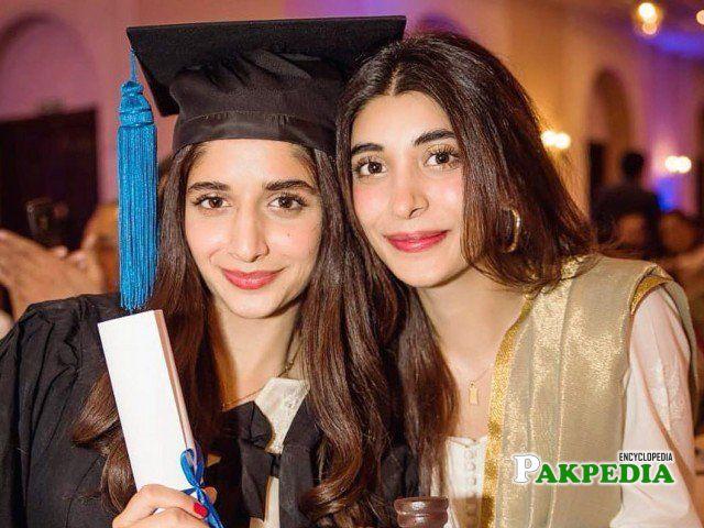 Mawra at her graduation day