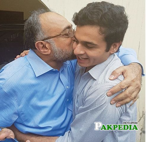 With his Son Barrister Awais Ali Shah
