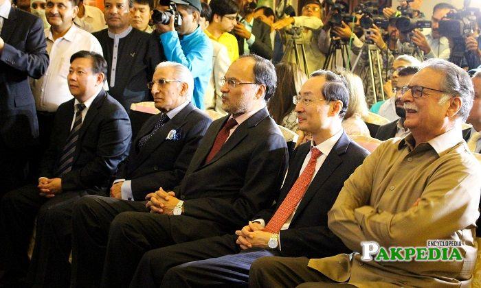 With Chineese ambassador and pervaiz rasheed at art exhibition