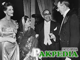 Ra'ana Liaquat Ali Khan with Her Husband