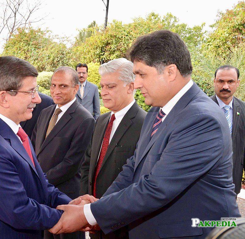 Fawad Meeting with Former PM of Turkey Ahmet Davutoglu