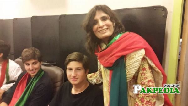 With Son of Imran khan