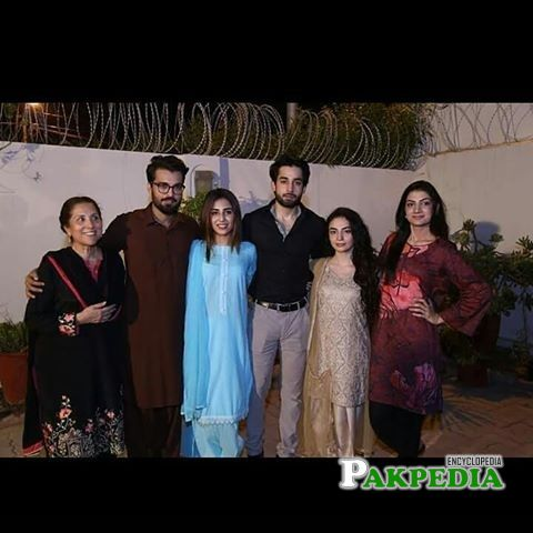 Mehar Bano with cast of Balaa