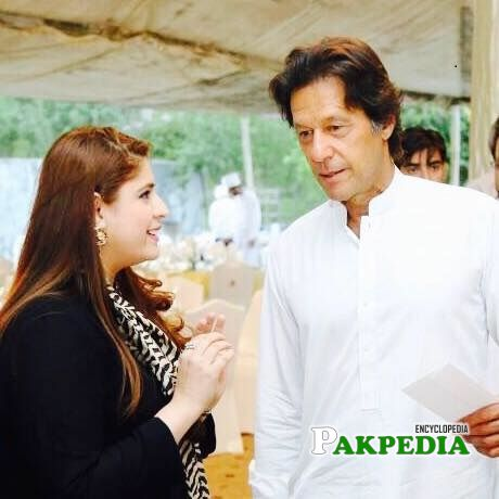 Sarah Ahmad with PM Imran Khan