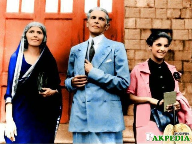 Dina Jinnah with Quaid and Fatima Jinnah.