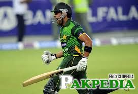 Umar Akmal after Wining the Match