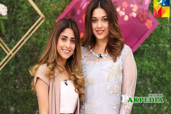 Sanam with her sister Anam Jung