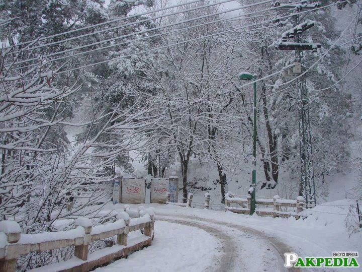 murree road in winter