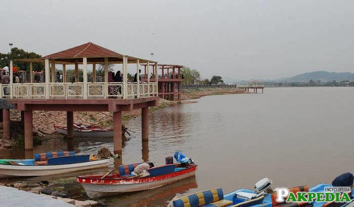 Water boating at rawal lake