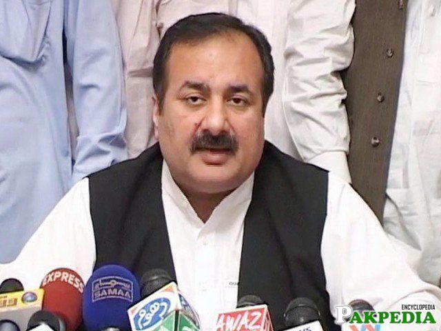 Rana Mashood Ahmad Khan media talk