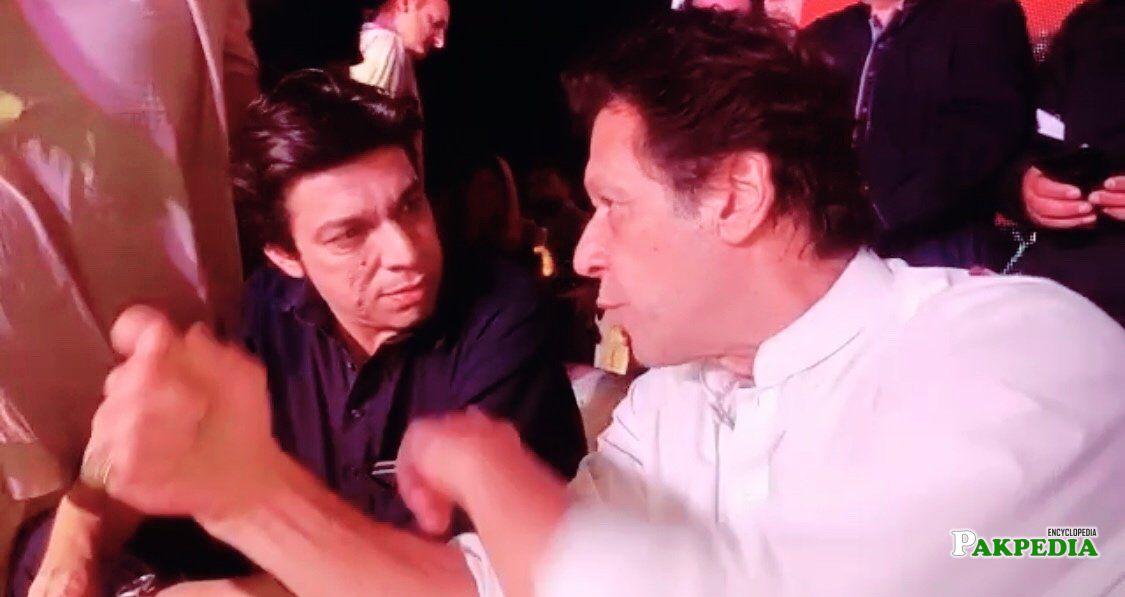 With Imran khan