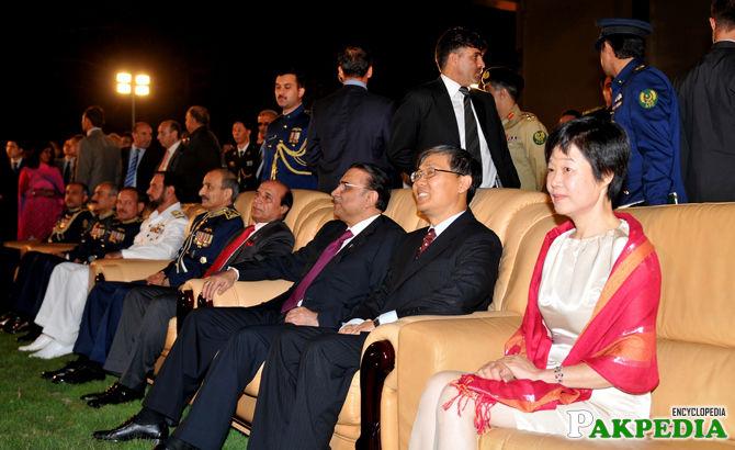 Zardari at Embassy Of China