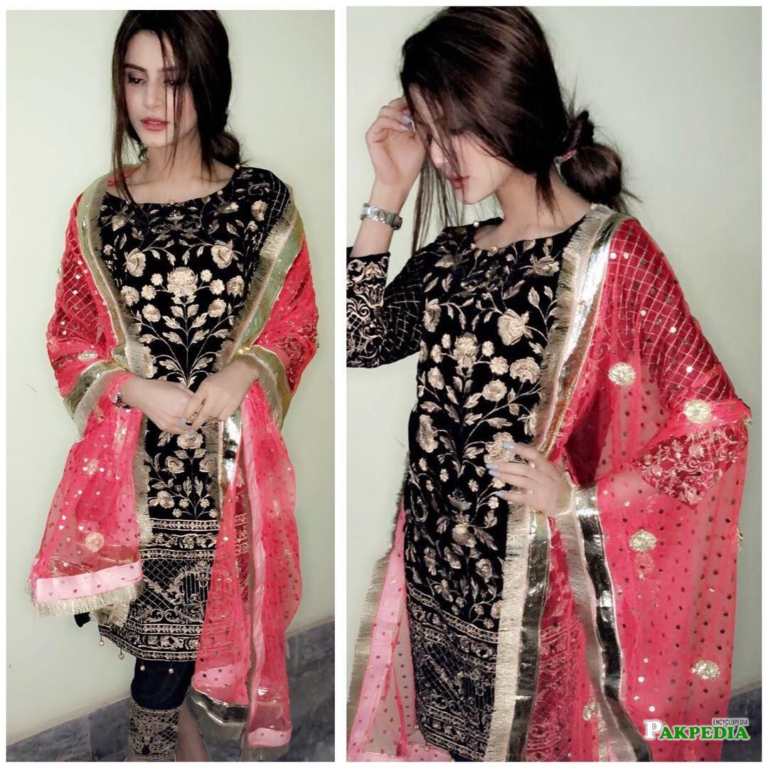 Zubab Rana during Modeling for a brand
