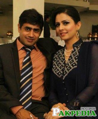Abrar Ul Haq with wife