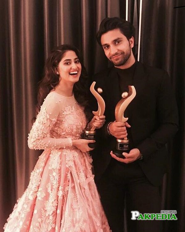 Sajal and Ahad Raza at HUM Awards