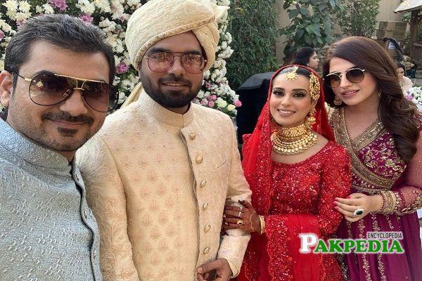 Faiza and Haider at iqra yasir's wedding