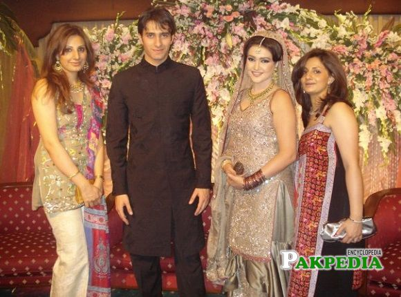 Emmad Irfani with his wife at his wedding day