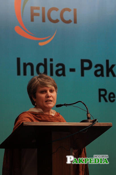 Bushra Gohar addresses in the first India-Pakistan Federation