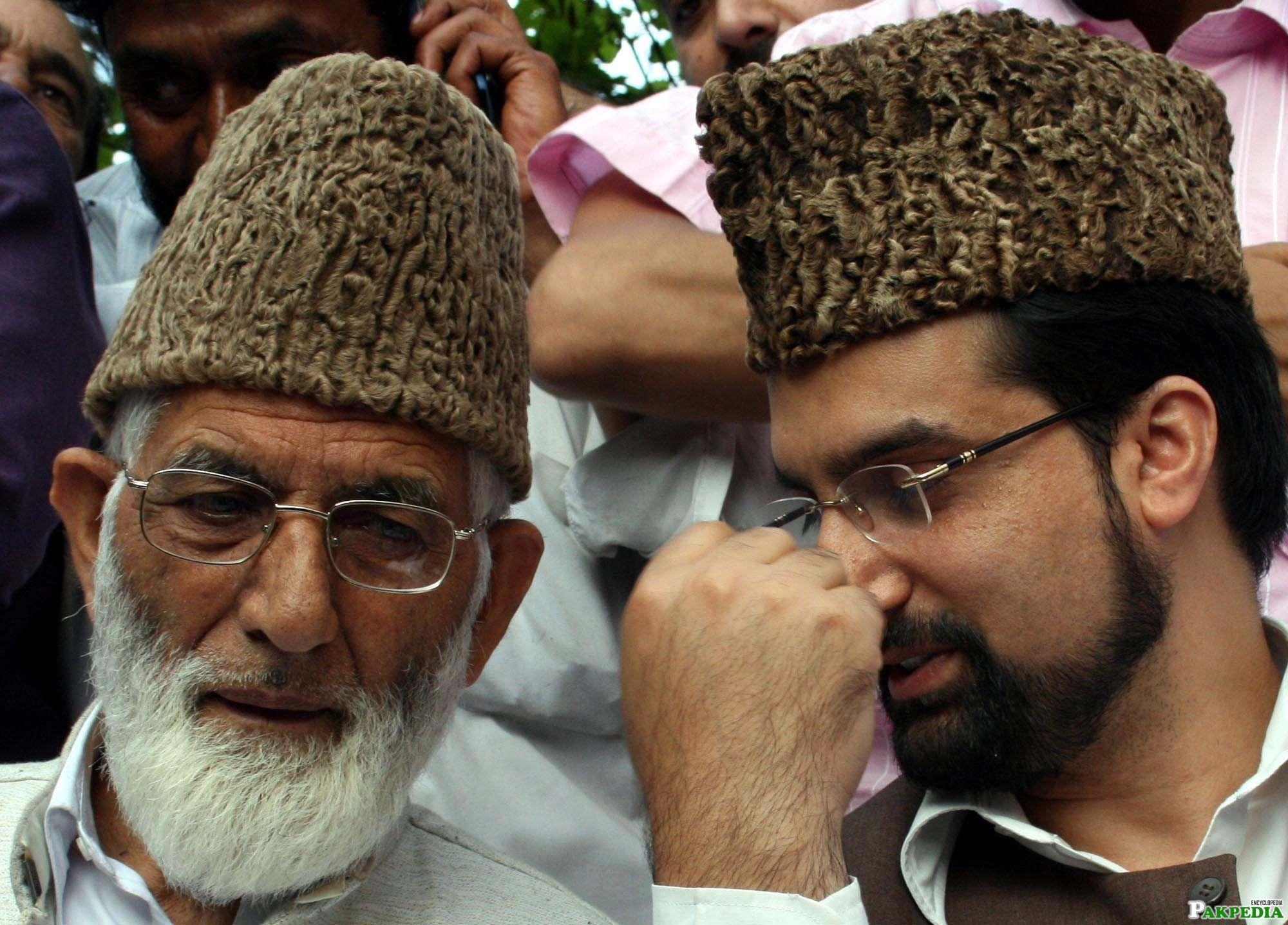 Syed Ali Geelani and Mirwaiz Umar Farooq