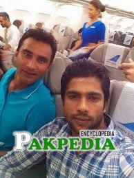 With Mukhtar while going to Sri lanka