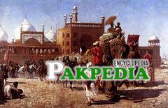 Image showing caravan of Shahjahan towards a journey