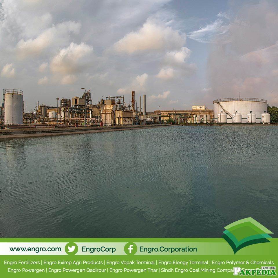 A Corner in Engro Polymer where Earth's Water Touches Man's Industry
