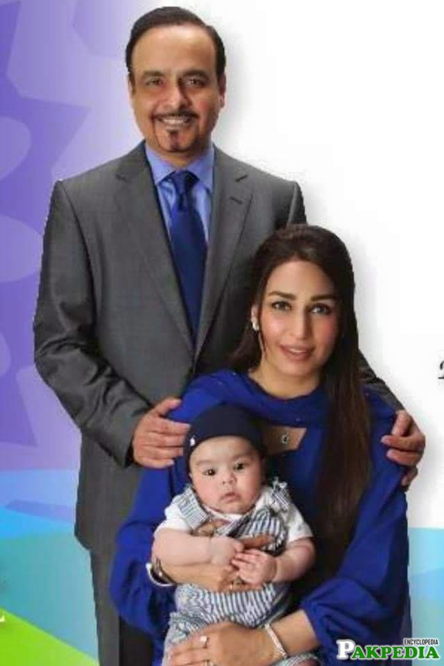 Reema Khan Family photo with her newly born baby